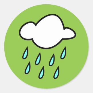 雨雲のステッカー ラウンドシール