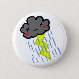 雨雲 5.7CM 丸型バッジ