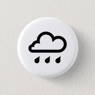 「雨」ピクトグラムボタン 缶バッジ