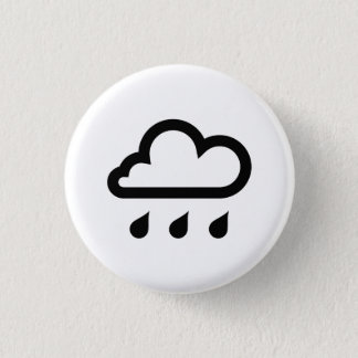 「雨」ピクトグラムボタン 3.2CM 丸型バッジ