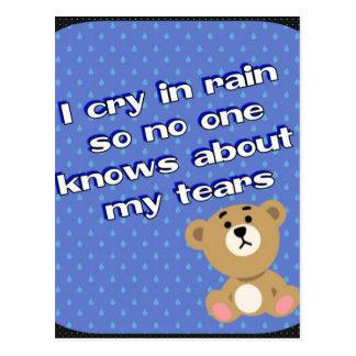 雨 ポストカード