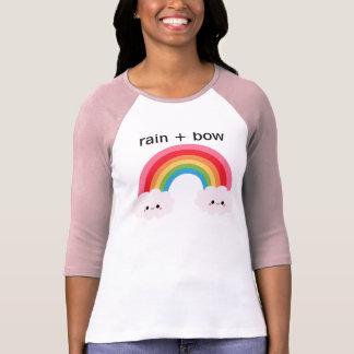 雨 + 弓野球のティー Tシャツ