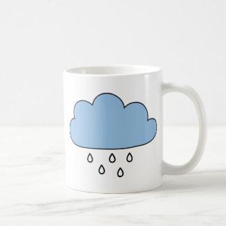 """雨""""正しく""""雲 コーヒーマグカップ"""