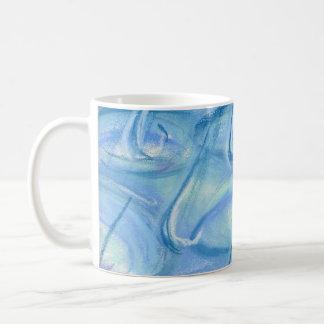 雨-油のパステルのマグ コーヒーマグカップ