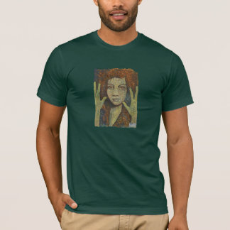 雨、男性へファインアートのTシャツ Tシャツ