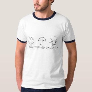 雨、雨は、遠くにに行きます Tシャツ