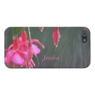 雨iPhoneの精通した場合の明るい赤紫色 iPhone 5 カバー