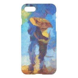 雨iPhone 7の澄んな場合で歩くこと iPhone 7ケース