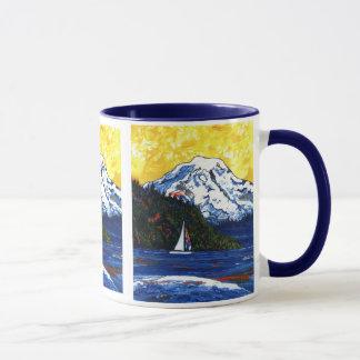 雨Mtのヨット マグカップ