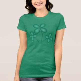 雨Tシャツのセントパトリックの日のシャムロック Tシャツ