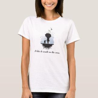 雨Tシャツの歩行 Tシャツ