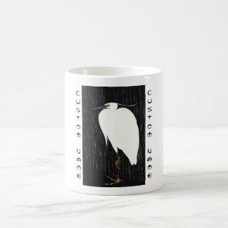 雨ukiyo-eの日本語のIde Gakusuiの白い鷲 コーヒーマグカップ