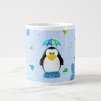 雨Welliesのペンギン ジャンボコーヒーマグカップ