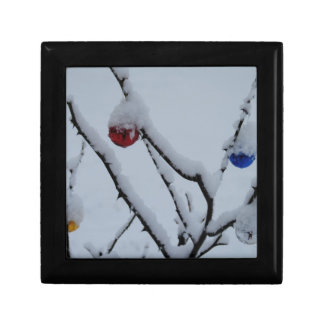 雪およびクリスマスオーナメント ギフトボックス