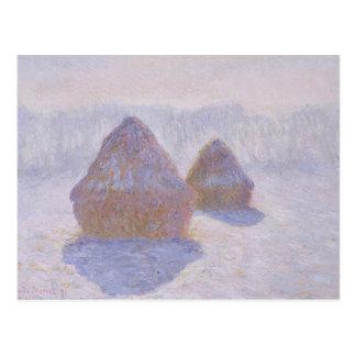 雪および日曜日の三角波の効果 ポストカード