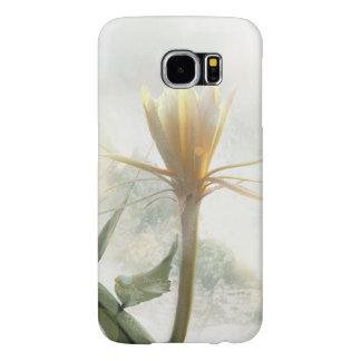 雪が多い冬の白いepiphyllumの花 samsung galaxy s6 ケース