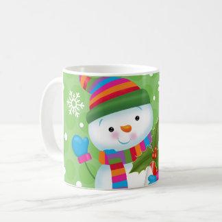 雪だるまおよびキャンディ・ケーンのマグ コーヒーマグカップ