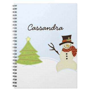 雪だるまおよび木 ノートブック