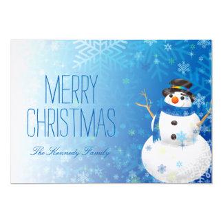 雪だるまおよび雪片 カード