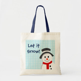 雪だるまおよび雪片 トートバッグ