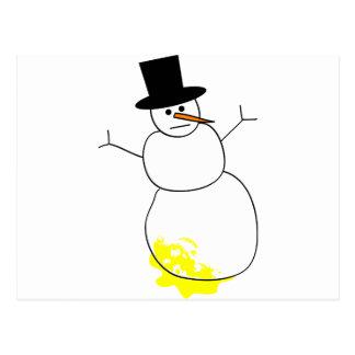 雪だるまで小便をされる ポストカード