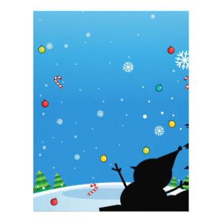 雪だるまとのクリスマスのシルエット レターヘッド