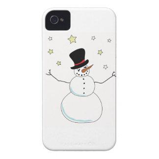 雪だるまのお祝い Case-Mate iPhone 4 ケース