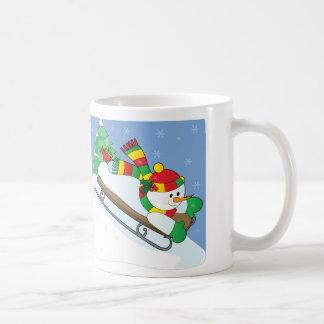雪だるまのそり コーヒーマグカップ