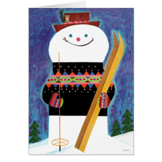 雪だるまのためのスキー カード