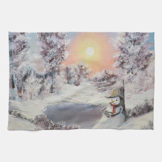 雪だるまのオンライン キッチンタオル