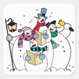 雪だるまのキャロルの歌うこと スクエアシール