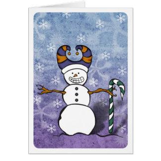 雪だるまのキャンディ・ケーンカード カード
