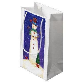 雪だるまのギフトバッグ スモールペーパーバッグ