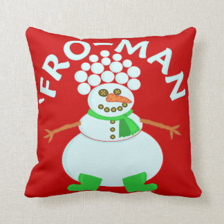 「雪だるまのクリスマスのしゃれのためにおもしろい クッション