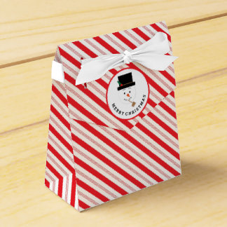 雪だるまのクリスマスのギフト用の箱が付いているキャンディ・ケーンのストライプ フェイバーボックス