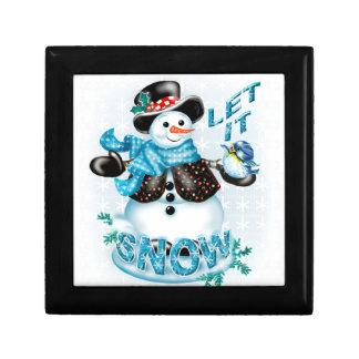 雪だるまのクリスマスのギフト用の箱2 ギフトボックス