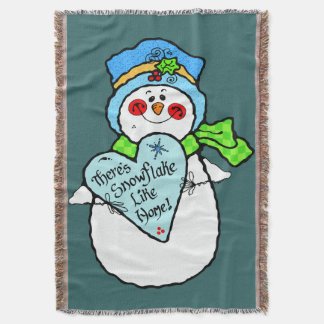 雪だるまのクリスマスのブランケット スローブランケット