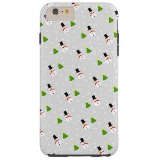 雪だるまのクリスマスの休日の携帯電話カバー iPhone 6 PLUS タフケース