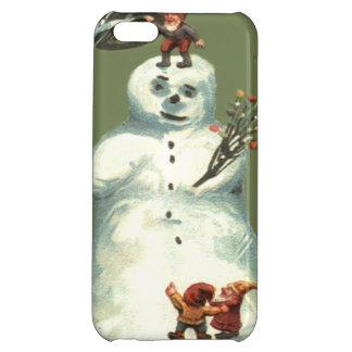 雪だるまのクリスマスの小妖精や小人のクリスマスの照明 iPhone5Cケース