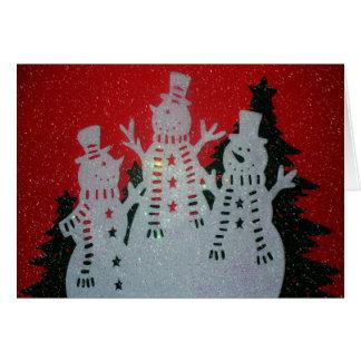 雪だるまのクリスマスの挨拶状 カード