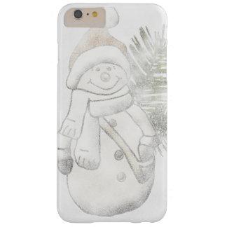雪だるまのクリスマスの電話箱 BARELY THERE iPhone 6 PLUS ケース