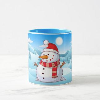 雪だるまのコンボのマグ マグカップ