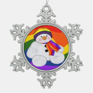 雪だるまのプライド スノーフレークピューターオーナメント