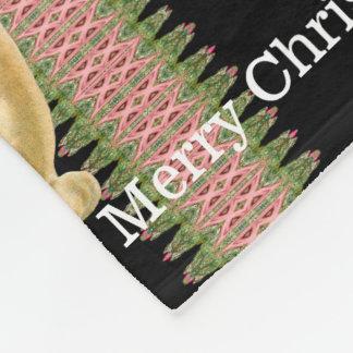 雪だるまのベビーのビクトリアンなクリスマスのモノグラム フリースブランケット