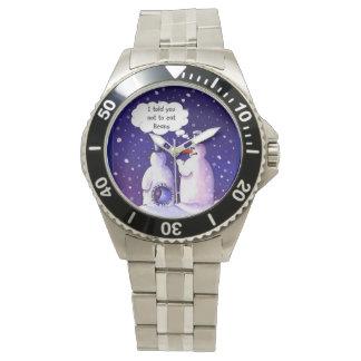 雪だるまのユーモア 腕時計