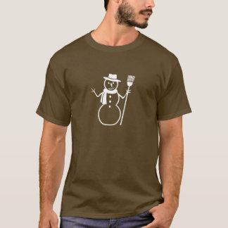 雪だるまのワイシャツ Tシャツ