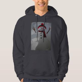 雪だるまの人のプルオーバーのフード付きスウェットシャツ パーカ