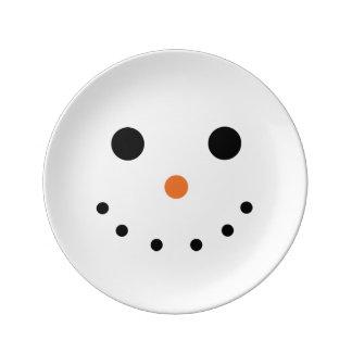 雪だるまの休日の装飾的な磁器皿 磁器プレート