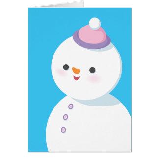 雪だるまの休日カード カード