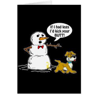雪だるまの冗談 カード